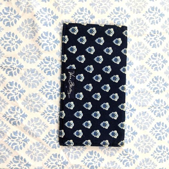 Vera bradley dark blue checkbook cover